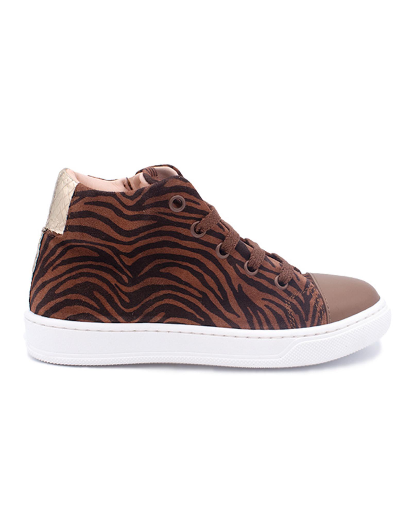 RONDINELLA RONDINELLA sneaker zebra bruin