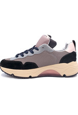 RONDINELLA RONDINELLA sneaker hoge zool blauw roze