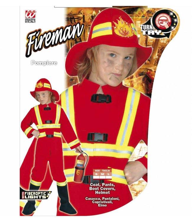 Kinder Feuerwehrmann Kostum Gr 128 5570 6 Karneval Zone