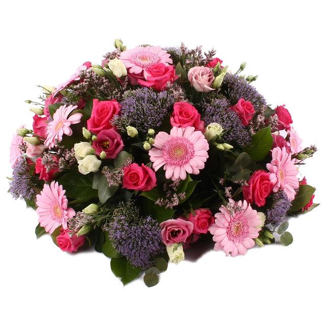Rouwbiedermeier roze Germini met Karenza Rozen