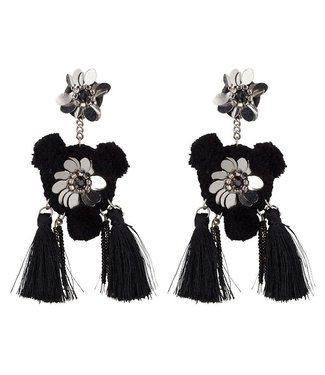 BLACK STATEMENT EARRINGS