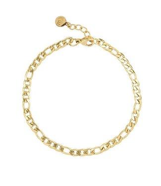 FLAT CHAIN BASIC BRACELET - GOLD