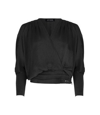 CROP BLOUSE - BLACK