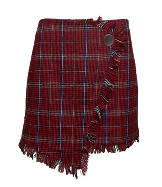 PLAID SKIRT - RED
