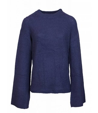 WIDE SLEEVE SWEATER - BLUE