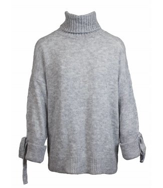 OVERSIZED ROLL NECK KNIT - GREY