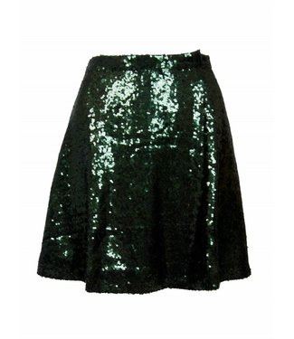 SEQUIN SKIRT - GREEN