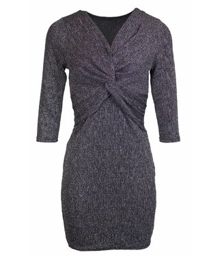 SPARKLY KNOT DRESS - SILVER