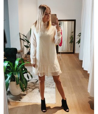 FLOWY DOT DRESS - CREAM