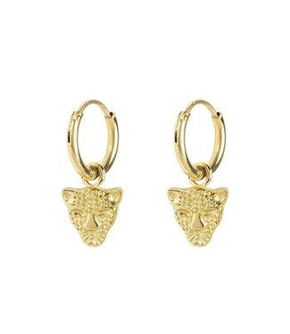 EARRINGS LEOPARD - GOLD