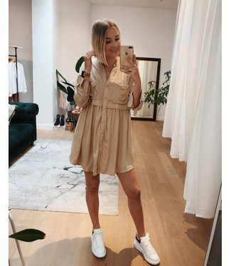 BEIGE SAFARI DRESS