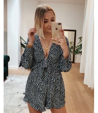 DOTTY PLAYSUIT - DARK BLUE