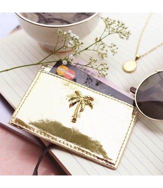 CARD HOLDER - GOLD PALMTREE