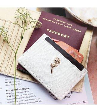 CARD HOLDER - WHITE ROSE