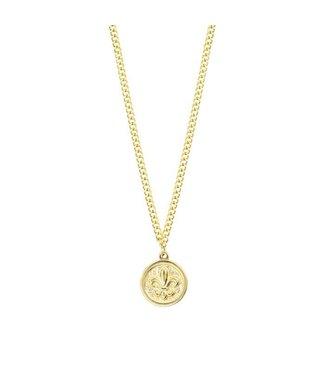 FLEUR DE LIS NECKLACE - GOLD