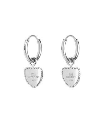 EARRINGS MI AMORE - SILVER