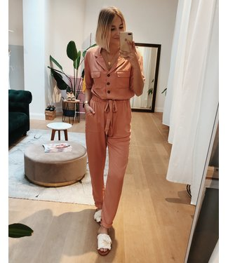 KILKY JUNGLE JUMPSUIT - CORAL