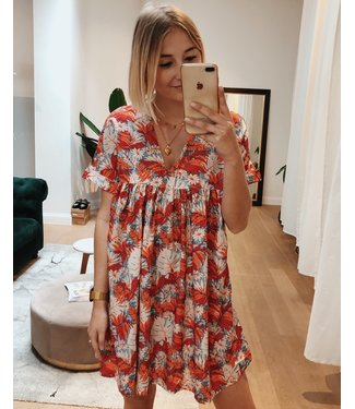 KILKY ORANGE FLORAL PLAYSUIT/DRESS