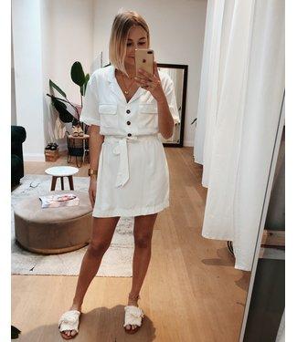 KILKY WHITE JUNGLE DRESS