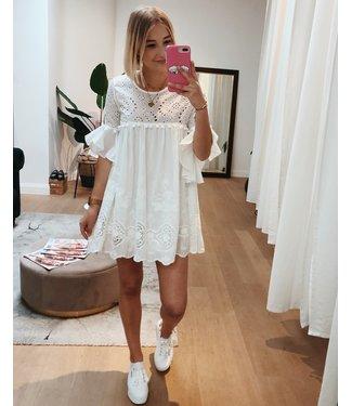 KILKY WHITE LACE DOLLY DRESS