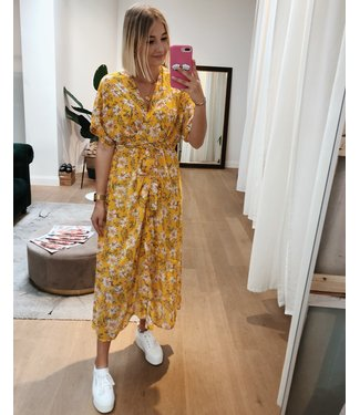 KILKY FLORAL MAXI DRESS - YELLOW