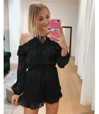 KILKY CUTEST PLAYSUIT - BLACK