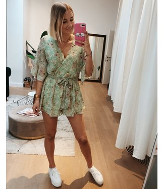 KILKY MINT FLOWER PLAYSUIT