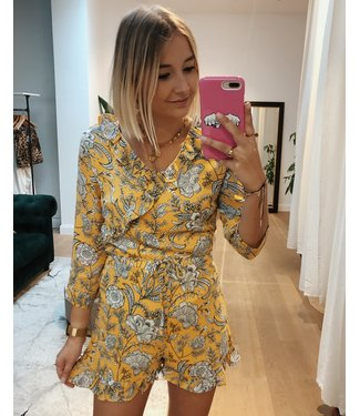 YELLOW FLOWER PLAYSUIT