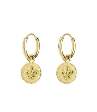 EARRINGS FLEUR DE LIS - GOLD