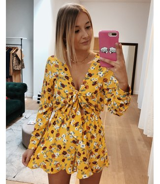 KILKY SUMMER READY FLOWER PLAYSUIT - YELLOW