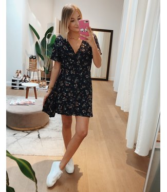 KILKY NAVY FLORAL WRAP PLAYSUIT/DRESS