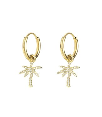 SPARKLY PALMTREE EARRINGS