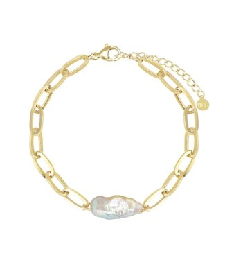PEARLY CHAIN BRACELET - GOLD