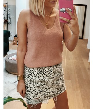 KILKY KNITTED TOP - ROSE