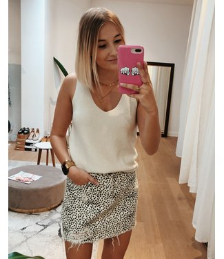 KILKY KNITTED TOP - WHITE