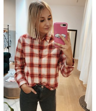 KILKY CHECKED SHIRT - RED