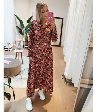 FLOWERBOMB MAXI DRESS - RED