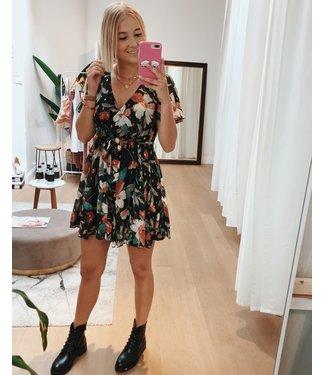 KILKY BLACK GIRLY FLOWER DRESS