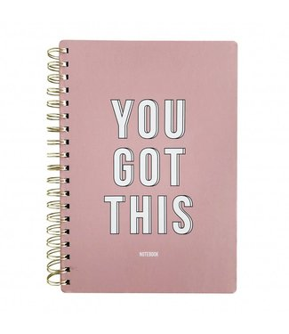 YOU GOT THIS - PINK NOTEBOOK