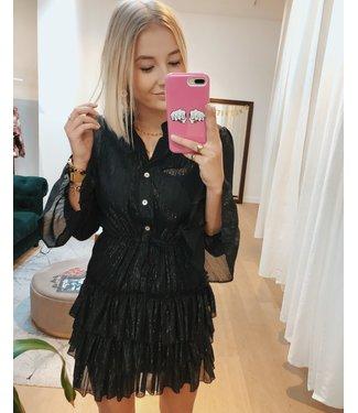 BLACK SILVER LINING DRESS