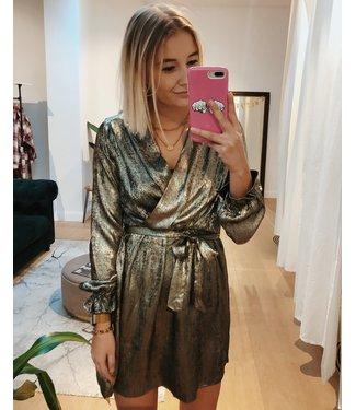 GOLD SHINY PARTY DRESS