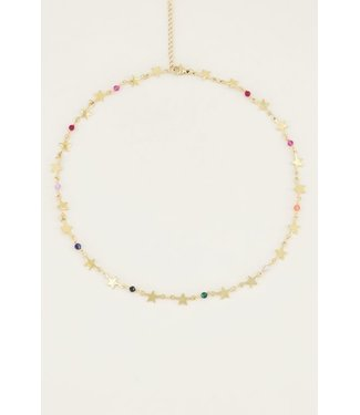 STARS AND PEARLS NECKLACE - GOLD