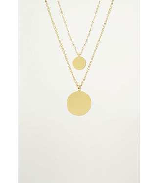 DOUBLE COIN NECKLACE - GOLD
