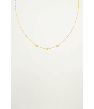 3 HEARTS NECKLACE - GOLD