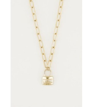 KEY CHAIN AMOUR NECKLACE - GOLD