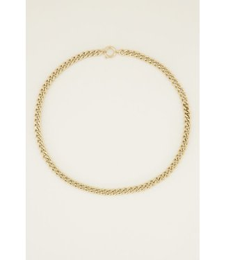 SHORT CHAIN NECKLACE - GOLD