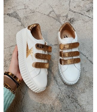 VELCRO SNEAKERS - GOLD
