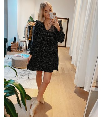 KILKY FLOWY BLACK GOLD DRESS