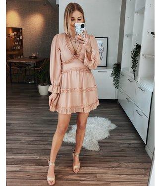 OPEN BACK DRESS - ROSE