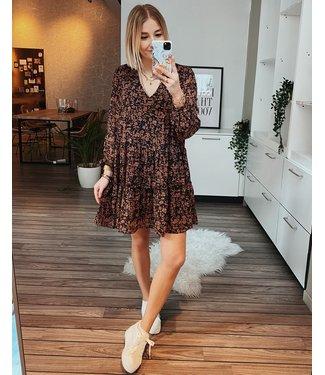 BLACK & ROSE FLOWY DRESS